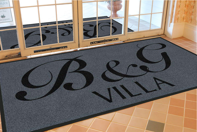 B & G Villa 4 X 8 Rubber Backed Carpeted HD - The Personalized Doormats Company