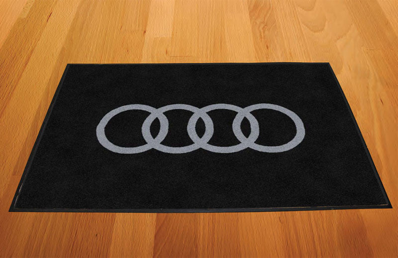 Audi 2 X 3 Rubber Backed Carpeted HD - The Personalized Doormats Company