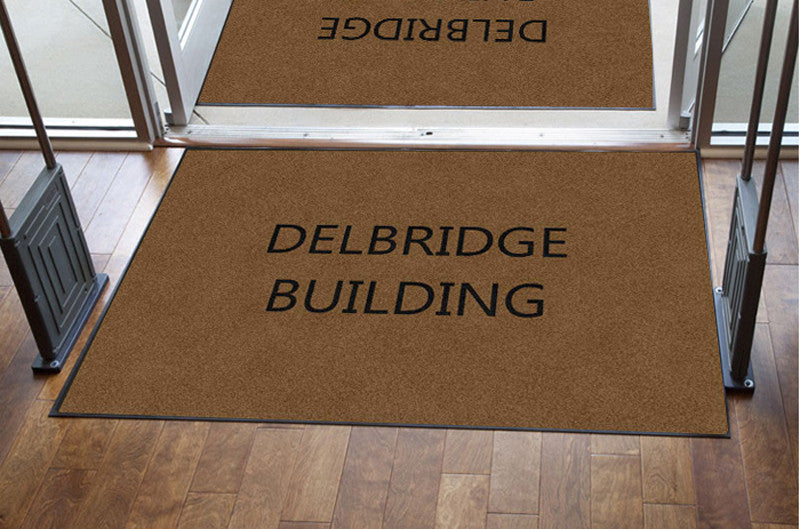 DELBRIDGE BUILDING 4 x 6 Rubber Backed Carpeted HD - The Personalized Doormats Company