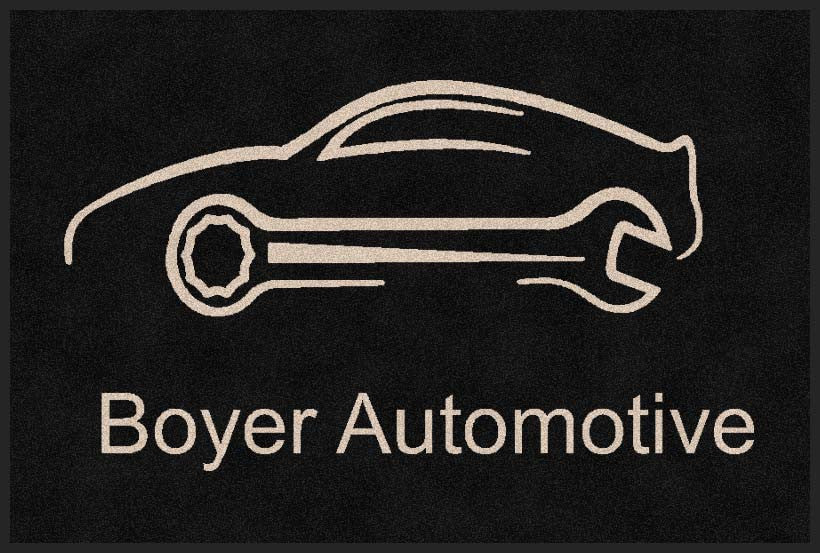 Boyer Automotive 2 X 3 Rubber Backed Carpeted HD - The Personalized Doormats Company