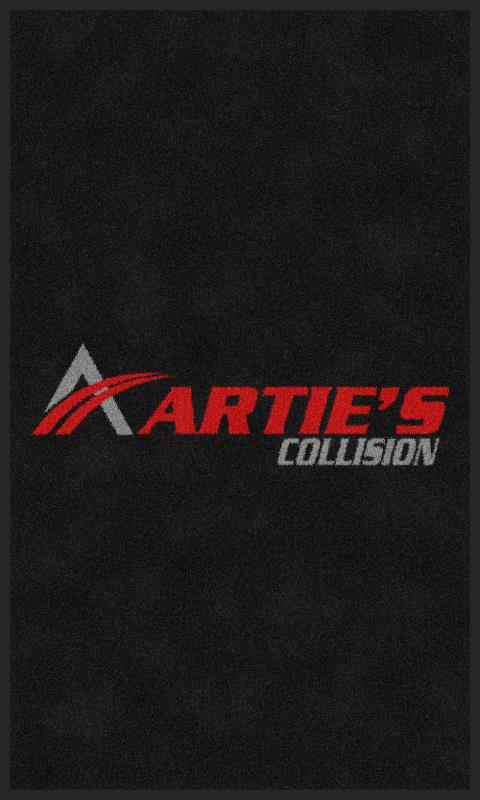 Artie's Collision 3 X 5 Rubber Backed Carpeted - The Personalized Doormats Company