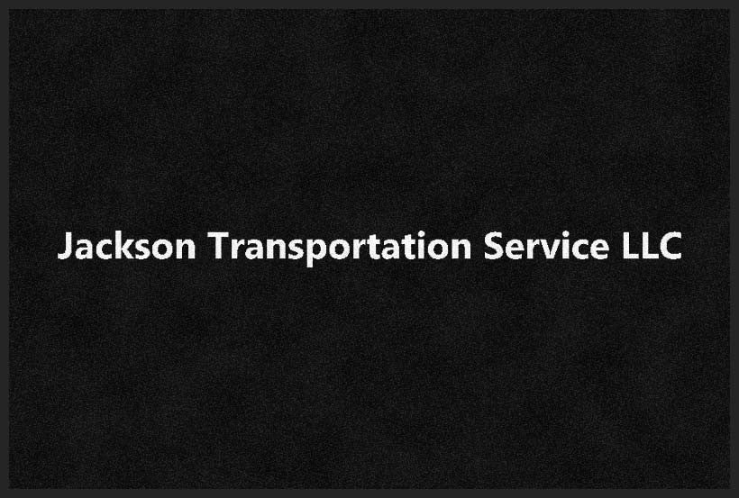 JACKSON TRANSPORTATION SERVICE LLC 2 X 3 Rubber Backed Carpeted HD - The Personalized Doormats Company