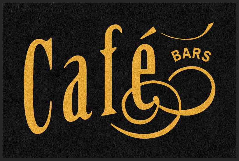 Cafe Bar 4 X 6 Rubber Backed Carpeted HD - The Personalized Doormats Company