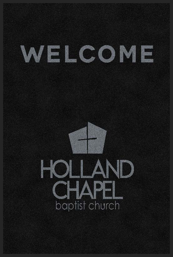 Holland Chapel Baptist Church 4 X 6 Rubber Backed Carpeted HD - The Personalized Doormats Company