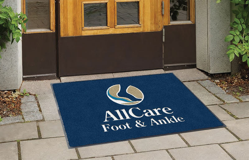 AllCare Foot & Ankle 2 X 3 Flocked Olefin 3 Color - The Personalized Doormats Company