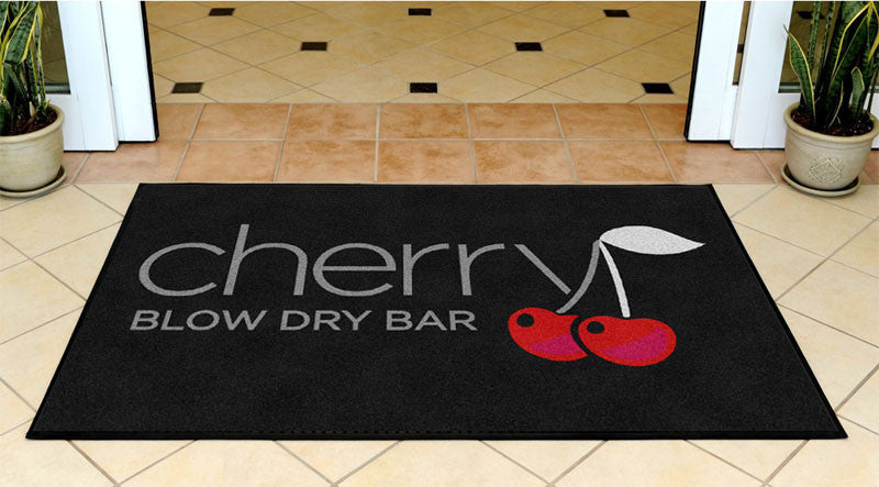 Cherry Blow Dry Bar 3 x 5 Rubber Backed Carpeted - The Personalized Doormats Company