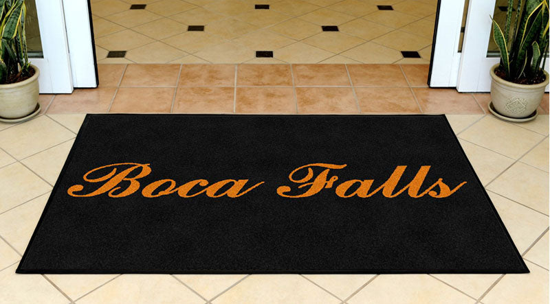 Boca Falls 3 X 5 Rubber Backed Carpeted HD - The Personalized Doormats Company