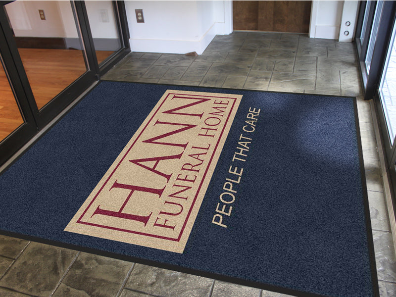 HANN FUNERAL HOME 6 X 8 Rubber Backed Carpeted HD - The Personalized Doormats Company