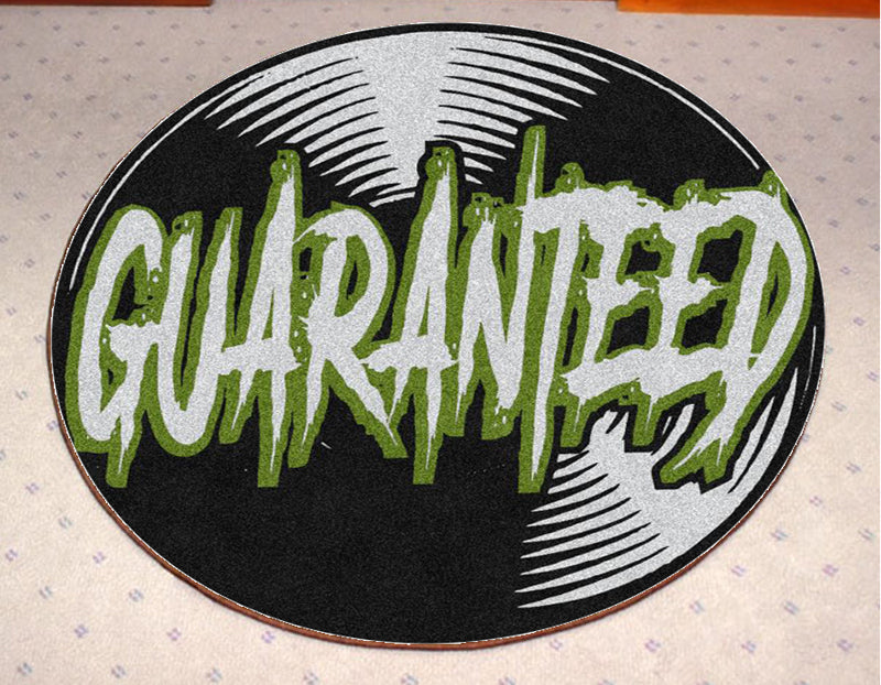 Guaranteed Music 3 X 3 Rubber Backed Carpeted HD Round - The Personalized Doormats Company