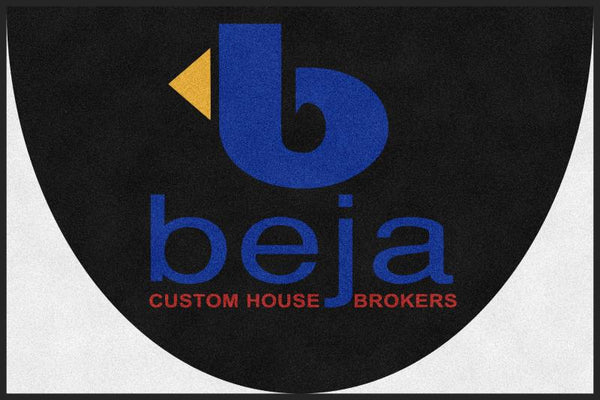 David Beja 4 X 6 Rubber Backed Carpeted HD Half Round - The Personalized Doormats Company