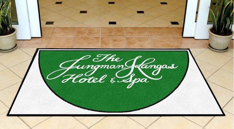 JKH&S 3 X 5 Rubber Backed Carpeted HD Half Round - The Personalized Doormats Company