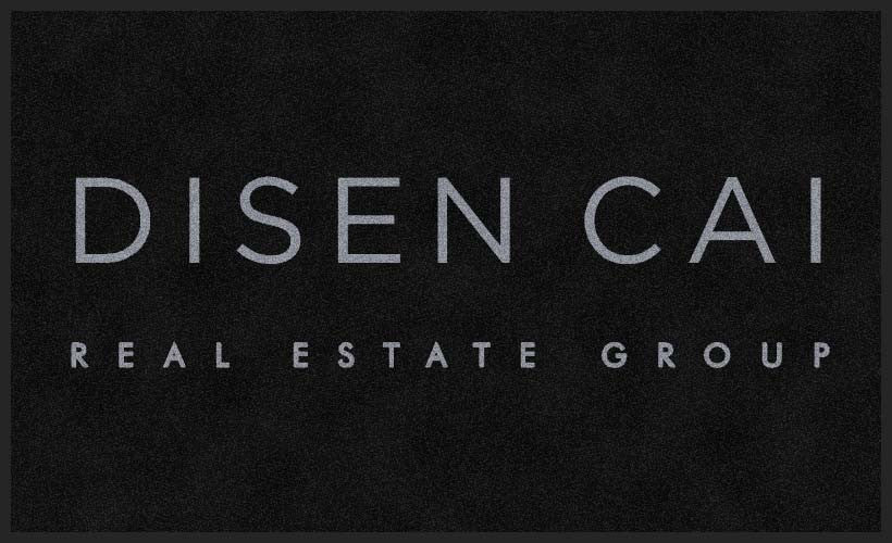 Disen Cai Real Estate Group 3 X 5 Rubber Backed Carpeted HD - The Personalized Doormats Company