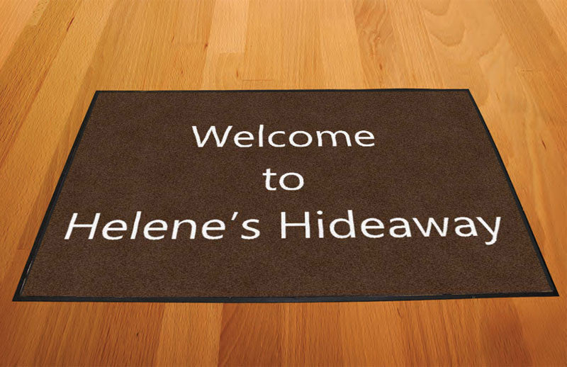 Helene's Hideaway 2 X 3 Rubber Backed Carpeted HD - The Personalized Doormats Company