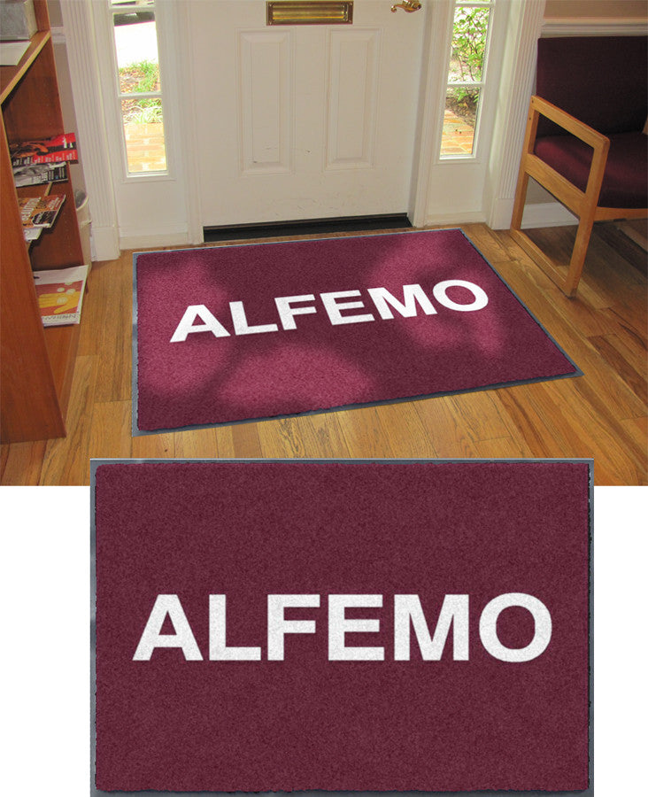 Alfemo 3 x 4 Flocked Olefin 1 Color - The Personalized Doormats Company