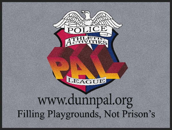 Dunn Police Athletic & Activities Le 3 X 4 Rubber Backed Carpeted HD - The Personalized Doormats Company