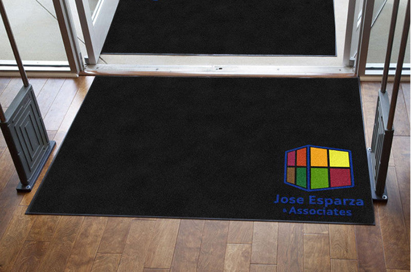 Jose Esparza & Associates 4 X 6 Rubber Backed Carpeted HD - The Personalized Doormats Company