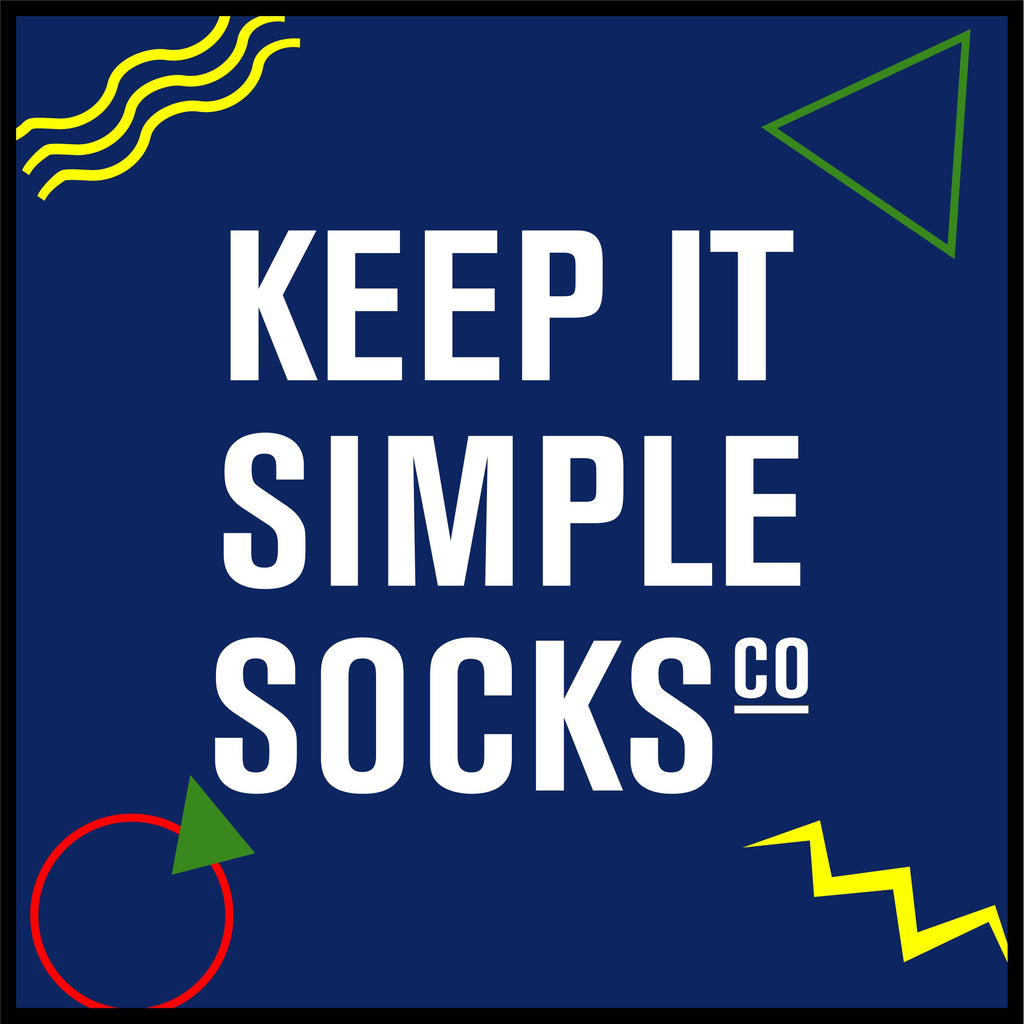 Keep it simple socks 80's 8 X 8 Luxury Berber Inlay - The Personalized Doormats Company