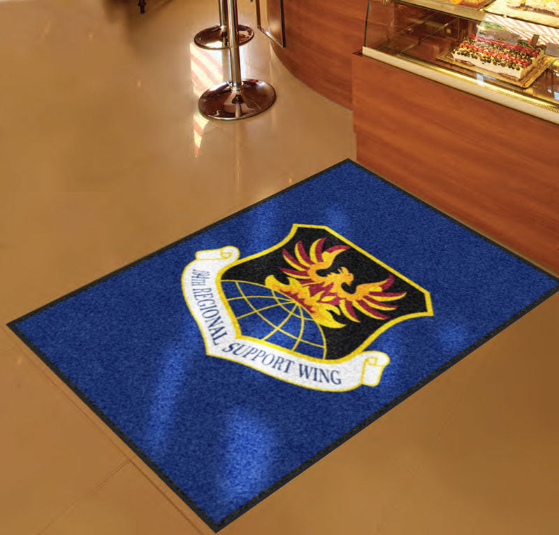 194th Wing 3 X 5 Rubber Backed Carpeted HD - The Personalized Doormats Company