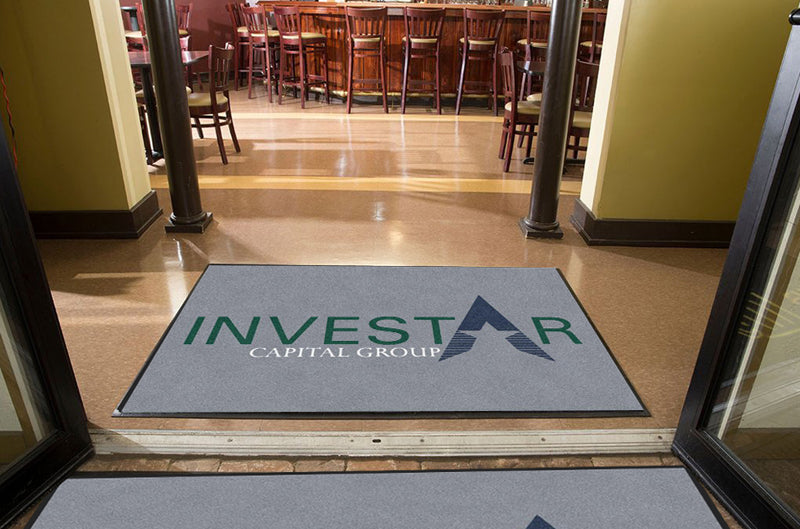 Investar 4 X 6 Rubber Backed Carpeted HD - The Personalized Doormats Company