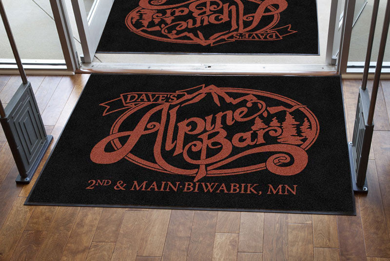 Alpine Bar 4 X 6 Rubber Backed Carpeted HD - The Personalized Doormats Company
