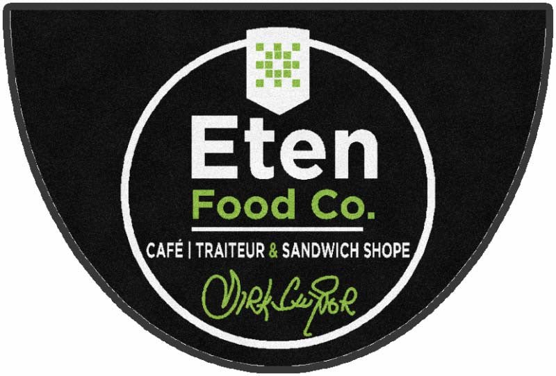 Eten Food Co 2 X 3 Rubber Backed Carpeted HD - The Personalized Doormats Company