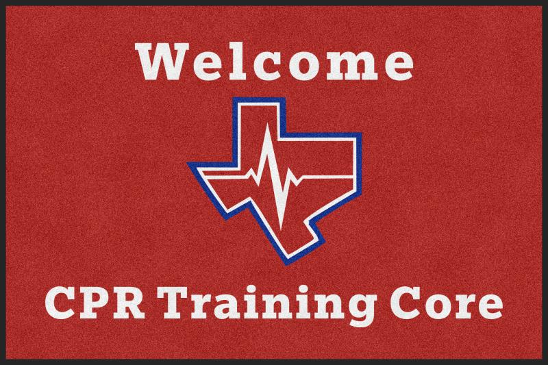 CPR Logo door mat 4 X 6 Rubber Backed Carpeted HD - The Personalized Doormats Company