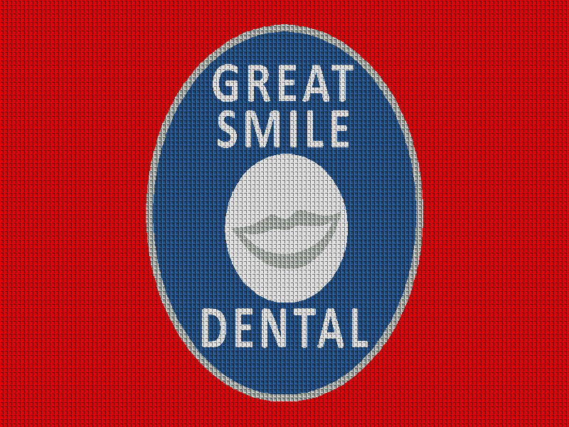 Great Smile Dental 3 X 4 Waterhog Inlay - The Personalized Doormats Company
