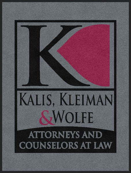 Kalis & Kleiman 3 X 4 Rubber Backed Carpeted HD - The Personalized Doormats Company