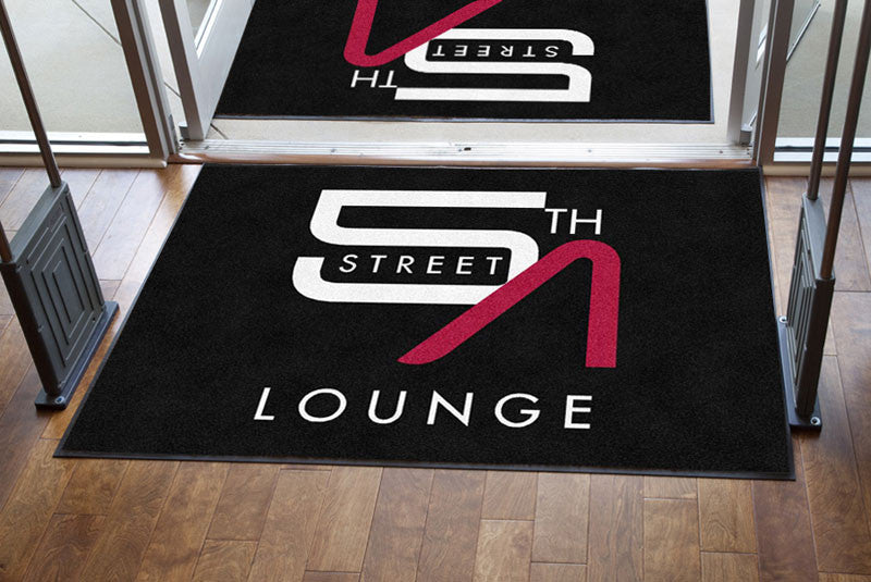 5th street lounge 4 X 6 Rubber Backed Carpeted HD - The Personalized Doormats Company