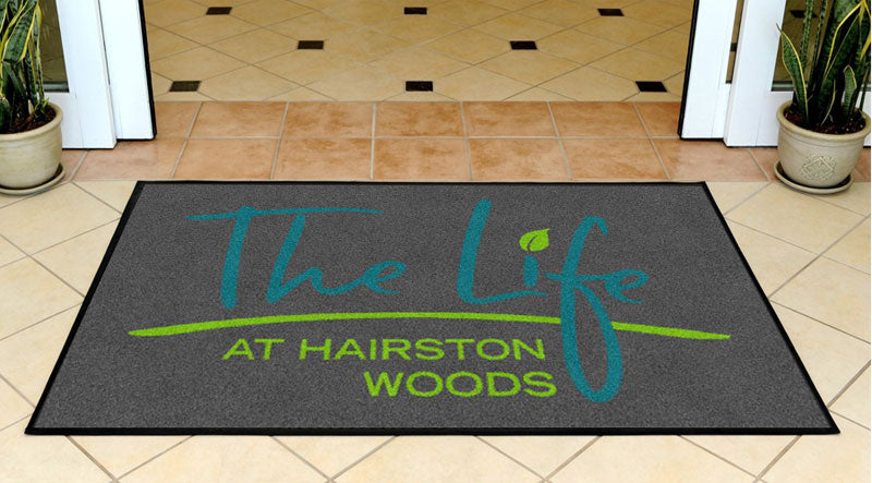 Hairston Woods Doormat 3 x 5 Rubber Backed Carpeted - The Personalized Doormats Company