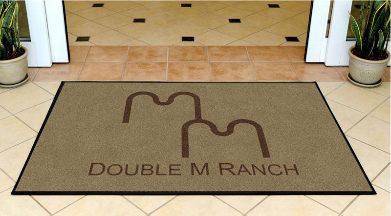 Double M Ranch 3 X 5 Rubber Backed Carpeted HD - The Personalized Doormats Company