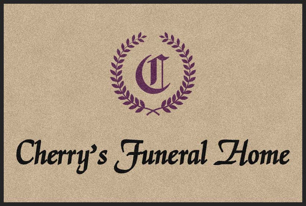 Cherry's Funeral Home 4 x 6 Rubber Backed Carpeted HD - The Personalized Doormats Company