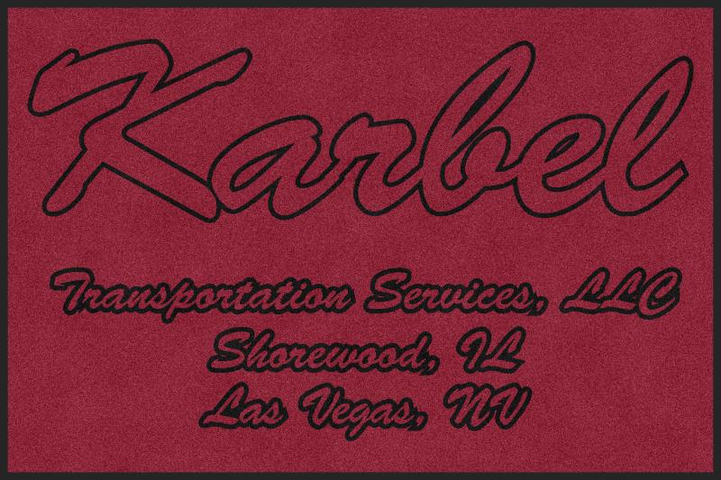 Karbel Transportation Services LLC 4 X 6 Rubber Backed Carpeted HD - The Personalized Doormats Company