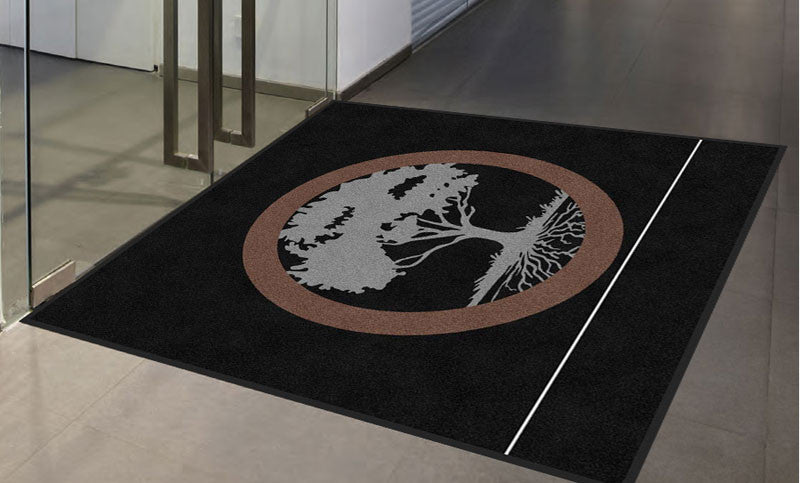 Inverness Partners 2 7 X 7 Rubber Backed Carpeted (XL 65mil) - The Personalized Doormats Company