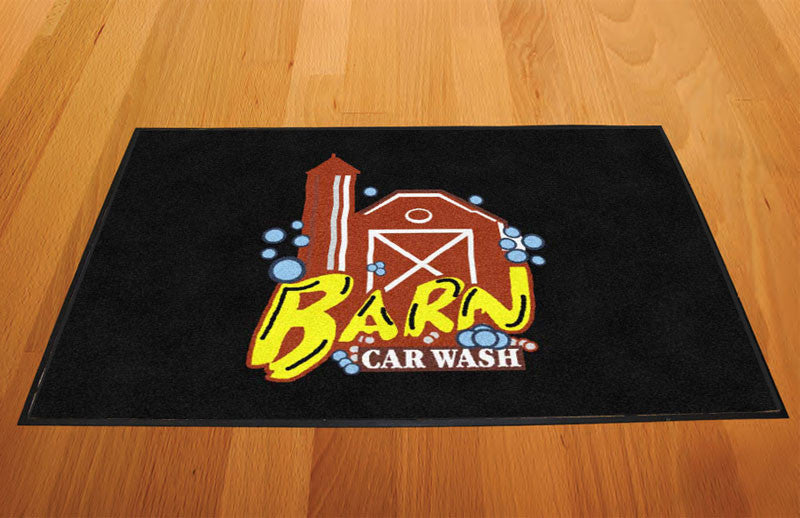 Barn Car Wash 2 X 3 Rubber Backed Carpeted HD - The Personalized Doormats Company
