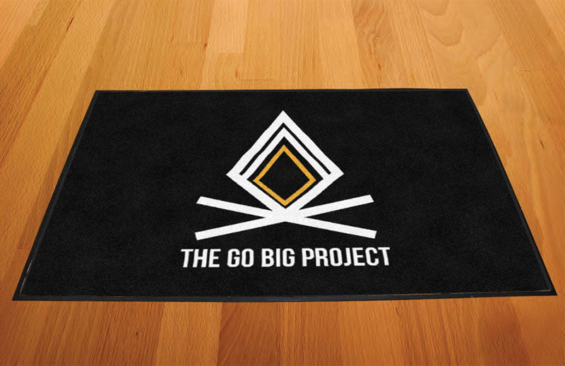 Go Big Doormat 2 X 3 Rubber Backed Carpeted HD - The Personalized Doormats Company