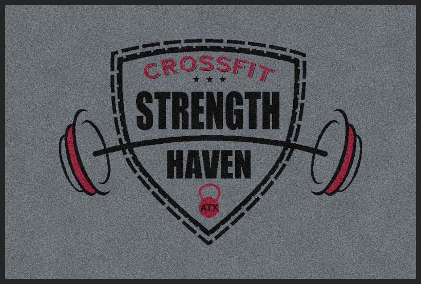 CrossFit Strength Haven 2 X 3 Rubber Backed Carpeted HD - The Personalized Doormats Company