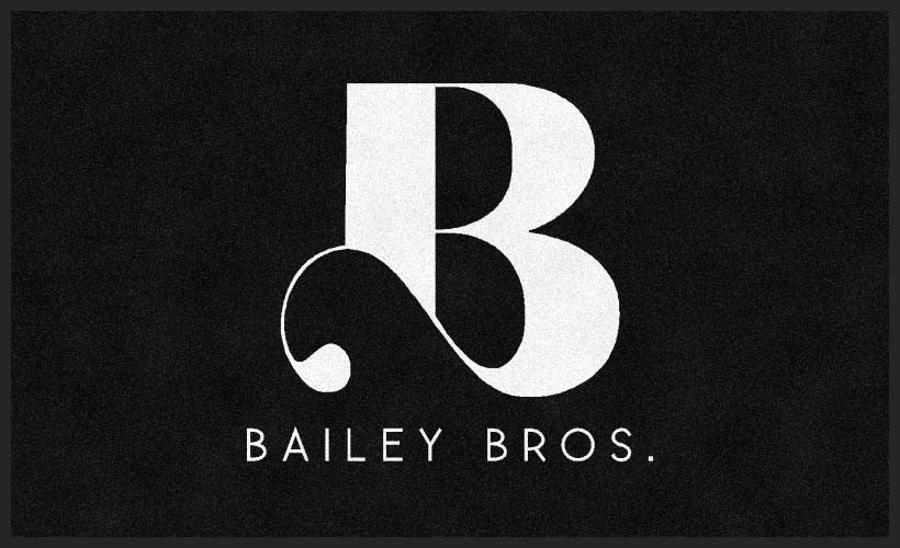 Bailey Bros 3 x 5 Flocked Olefin 1 Color - The Personalized Doormats Company