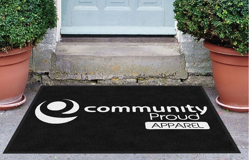 C proud 3 x 4 Rubber Backed Carpeted - The Personalized Doormats Company