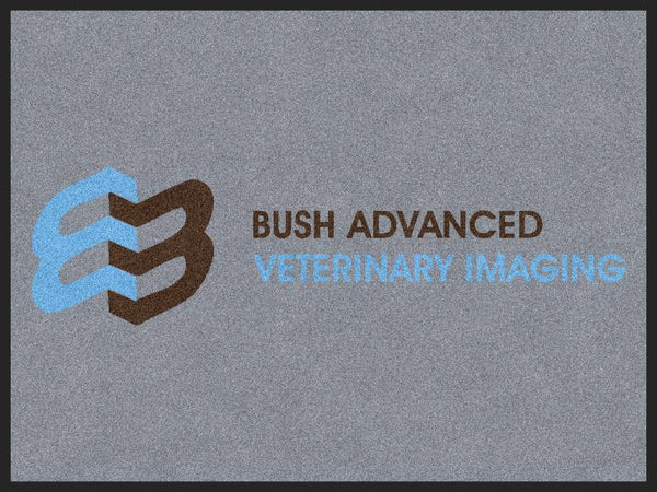 Bush Advanced Vet Imaging 3 x 4 Rubber Backed Carpeted HD - The Personalized Doormats Company