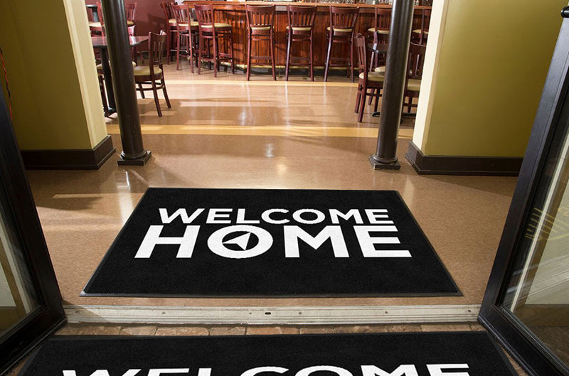 HP Church Welcome Home Mat 4 x 6 Rubber Backed Carpeted HD - The Personalized Doormats Company