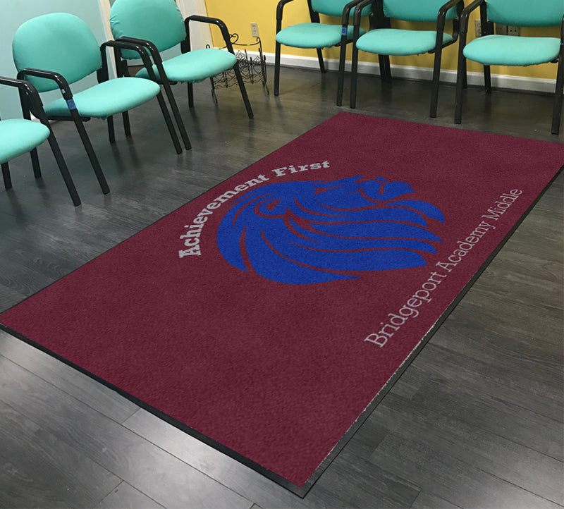 Achievement First Bridgeport Middle Acad 5 X 8 Rubber Backed Carpeted HD - The Personalized Doormats Company