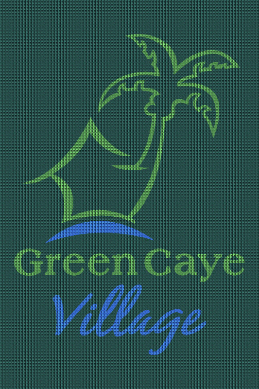 Green Caye Village 4 x 6 Waterhog Inlay - The Personalized Doormats Company