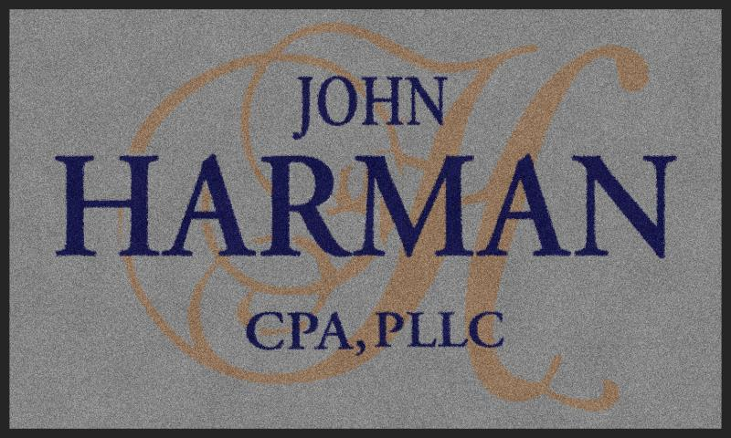 John Harman CPA, Indoor mats 3 X 5 Rubber Backed Carpeted - The Personalized Doormats Company