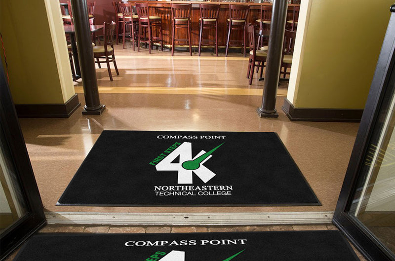 Compass 4K Project 4 X 6 Rubber Backed Carpeted HD - The Personalized Doormats Company