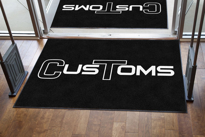 CT Customs 4 X 6 Rubber Backed Carpeted - The Personalized Doormats Company