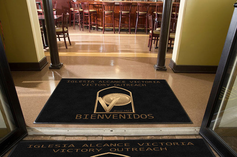 IGLESIA ALCANCE VICTORIA 4 X 5 Rubber Backed Carpeted HD - The Personalized Doormats Company
