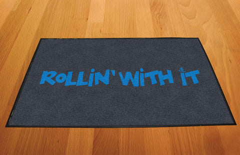 rollin with it doormat