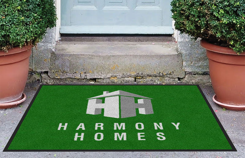 Harmony Homes 3 X 4 Rubber Backed Carpeted - The Personalized Doormats Company
