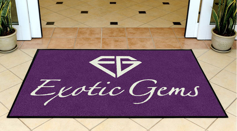 Exotic Gems 3 X 5 Rubber Backed Carpeted - The Personalized Doormats Company